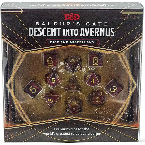 Wizards of the Coast Baldurs Gate Descent into Avernus Dice and Miscellany Dungeons and Dragons
