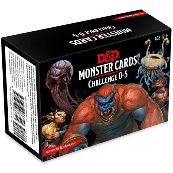 Wizards of the Coast Dungeons and Dragons Spellbook Cards Monsters 0-5