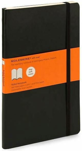 Moleskine Moleskine Classic Notebook, Large, Ruled, Black, Soft Cover 5 x 8.25