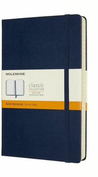 Moleskine Moleskine Notebook, Expanded, Large, Ruled, Sapphire Blue, Hard Cover 5 x 8.25