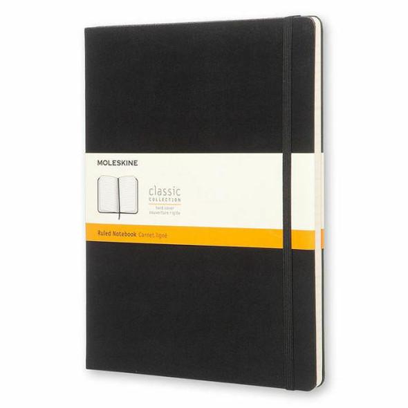 Moleskine Moleskine Classic Notebook, Extra Large, Ruled, Black, Hard Cover 7.5 x 10