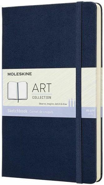 Moleskine Moleskine Art Collection Sketchbook, Large, Plain, Blue Sapphire, Hard Cover 5 x 8.25