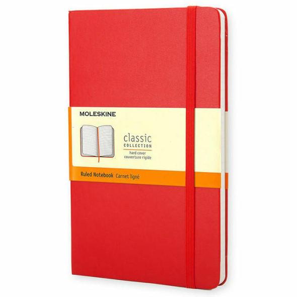 Moleskine Moleskine Classic Notebook, Large, Ruled, Red, Hard Cover 5 x 8.25