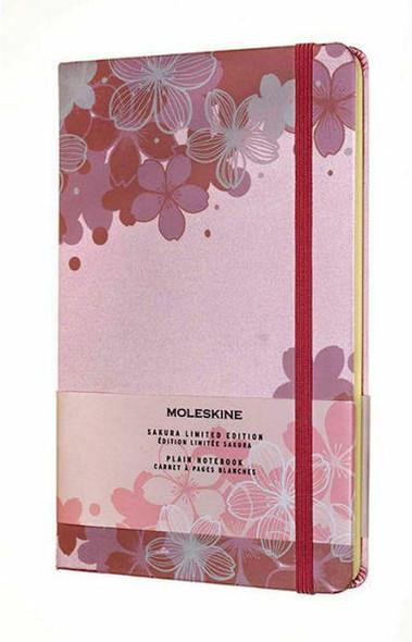 Moleskine Moleskine Limited Edition Notebook Sakura, Large, Plain, Light Pink 5 x 8.25