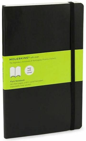 Moleskine Moleskine Classic Notebook, Large, Plain, Black, Soft Cover 5 x 8.25