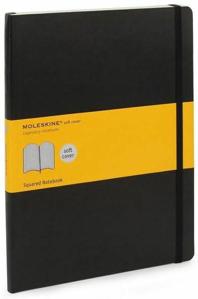 Moleskine Moleskine Classic Notebook, Extra Large, Squared, Black, Soft Cover 7.5 x 10
