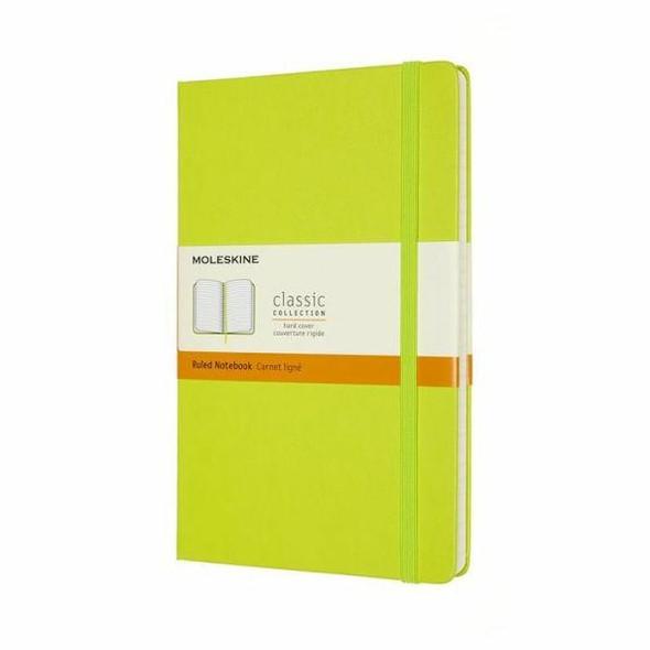 Moleskine Moleskine Classic Notebook, Large, Ruled, Lemon Green, Hard Cover 5 X 8.25