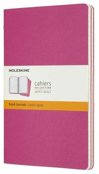 Moleskine Moleskine Cahier Journal, Large, Ruled, Kinetic Pink 8.25 x 5