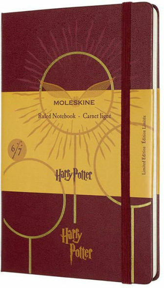 Moleskine Moleskine Limited Edition Notebook Harry Potter, Book6, Large, Ruled, Bordeaux Red 5 x 8.25