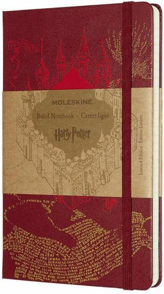 Moleskine Moleskine Ltd Edition Notebook, Harry Potter, Marauders Map, Large, Ruled, Hard Cover 5 x 8.25