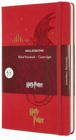 Moleskine Moleskine Limited Edition Notebook Harry Potter, Large, Ruled, Book 4, Geranium Red 5 x 8.25