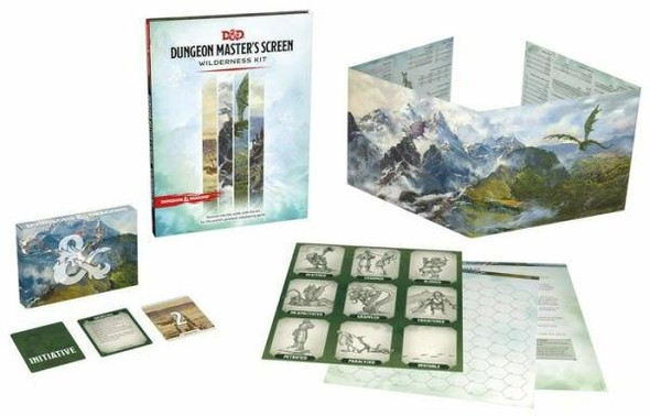 Wizards of the Coast Dungeons and Dragons Dungeon Masters Screen Wilderness Kit DandD Accessories