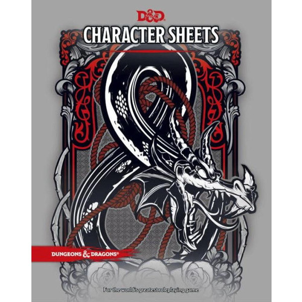 Wizards of the Coast Dungeons and Dragons Character Sheets