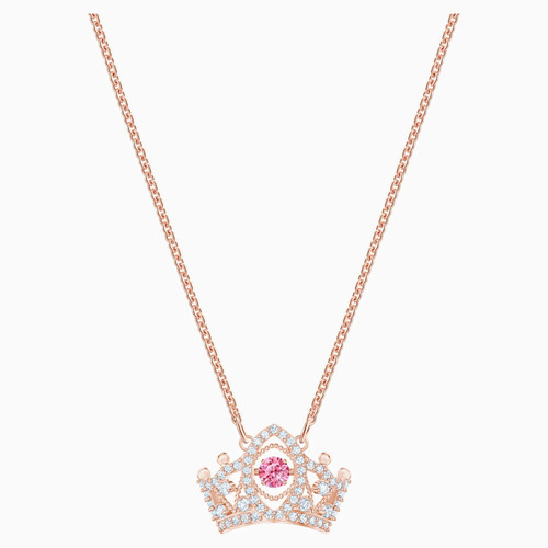 Swarovski Crystal Bee A Queen Pendant, Red, Rose-Gold Tone Plated 5510986