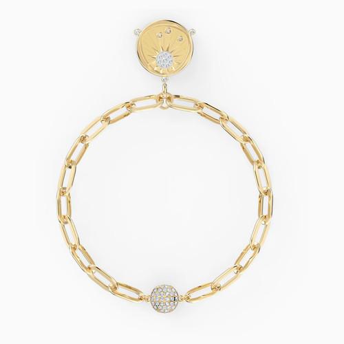 Swarovski Crystal The Elements of Fire Sun Bracelet, White, Gold-Tone Plated 5569190 (Size M)