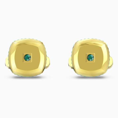 Swarovski Crystal Theo Earth Element Cufflinks, Green, Gold-Tone Plated 5569062
