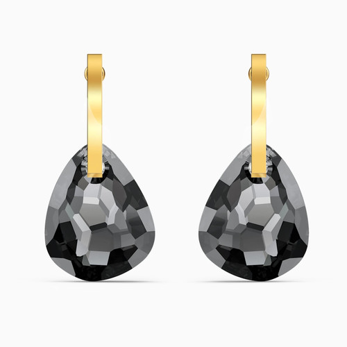 Swarovski Crystal T Bar Pierced Earrings, Gray, Gold-Tone Plated 5565999