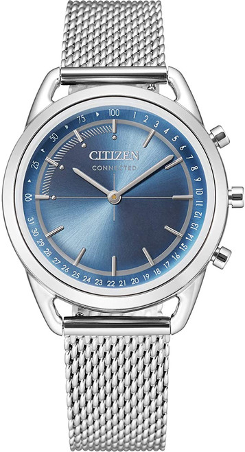 Citizen Eco Drive Women's Connected Blue Dial Stainless Steel Bracelet Watch HX0000-59L