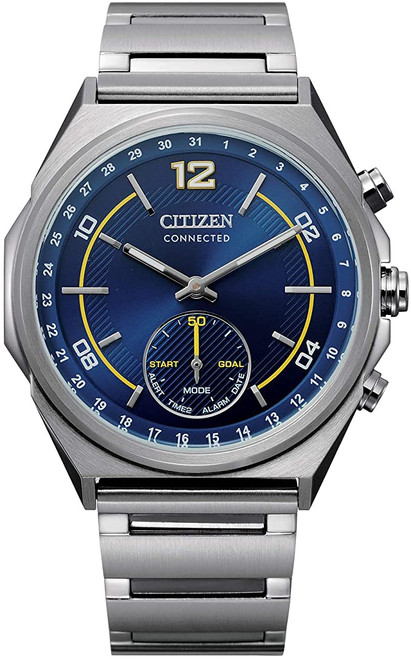 Citizen Eco Drive Men's Connected Blue Dial Stainless Steel Case Watch CX0000-55L