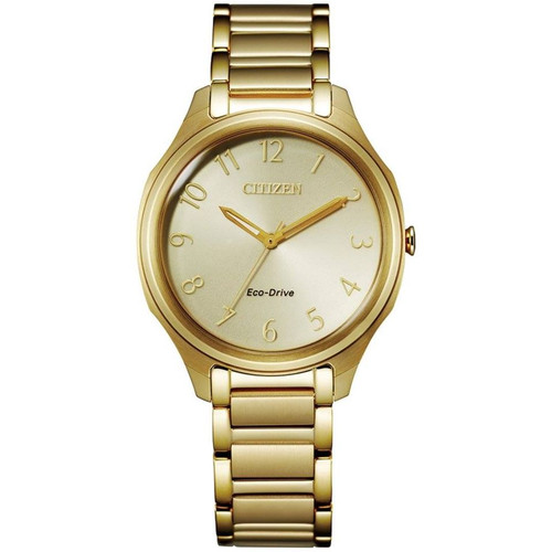 Citizen Eco-Drive Women's Drive Collection Gold-Tone Stainless Steel Watch EM0752-54P