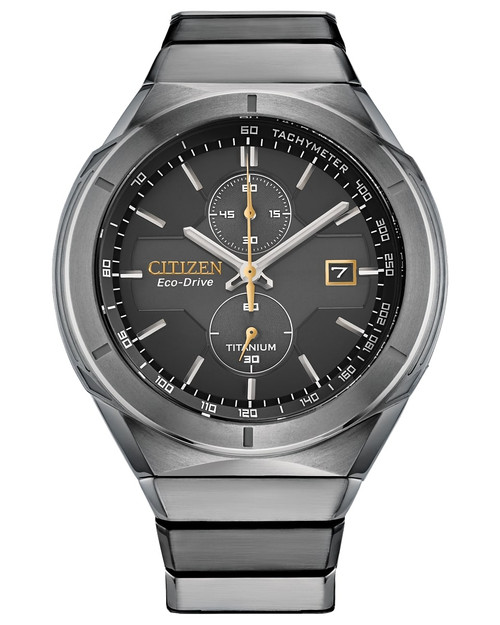 Citizen Eco Drive Men's Super Titanium Armor Chronograph Silver-Tone Watch CA7058-55E