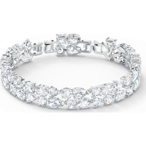 Swarovski Crystal Tennis Deluxe Mixed Bracelet, White, Rhodium Plated 5562088