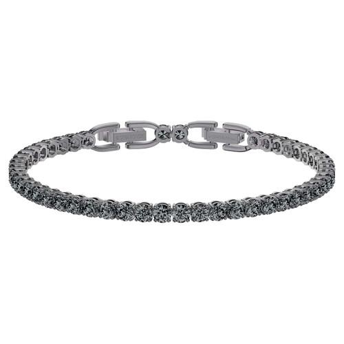 Swarovski Crystal Men's Tennis Deluxe Bracelet, Gray Ruthenium Plated 5504678
