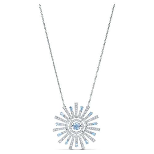 Swarovski Crystal Sunshine 125th Anniversary Necklace, Blue, Rhodium Plated 5536731