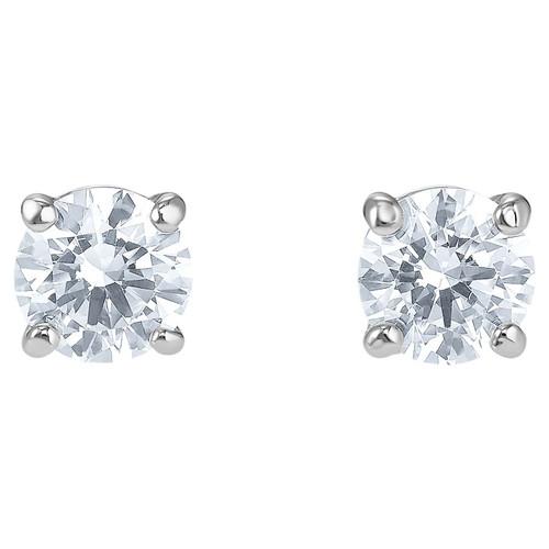 Swarovski Crystal Attract Stud Pierced Earrings, White, Rhodium Plated 5509937
