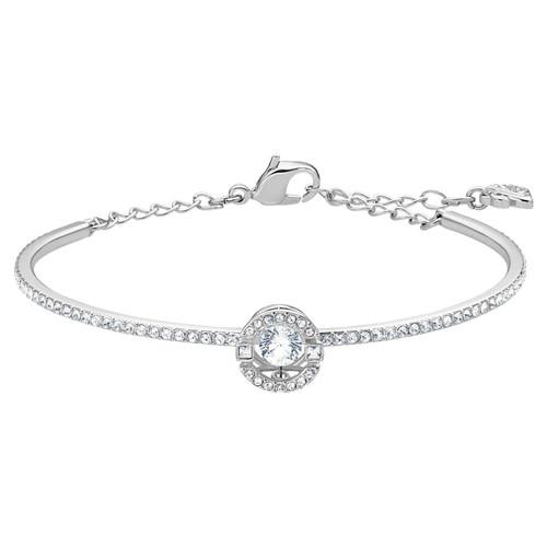 Swarovski Crystal Sparkling Dance Bangle, White, Rhodium Plated 5561882
