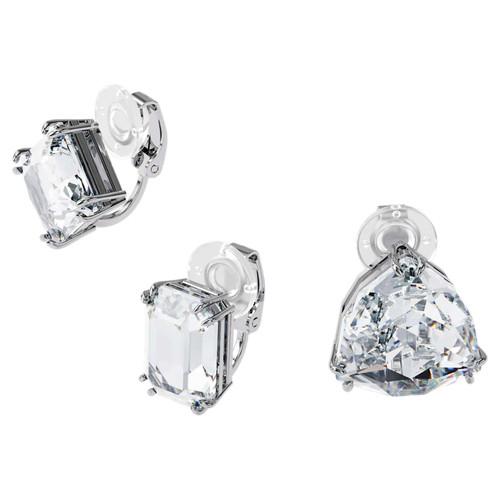 Swarovski Crystal Millenia Clip Earring Single, Set, White, Rhodium Plated 5602413