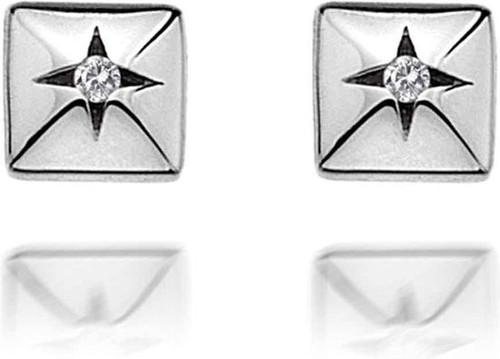 Hot Diamonds Affiné Earrings, Sterling Silver, DE339