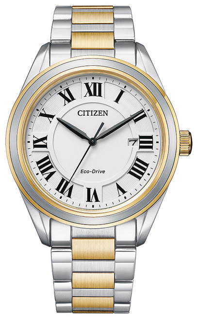 Citizen Eco Drive Men's Arezzo Two-Tone Stainless Steel Watch AW1694-50A