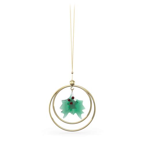 Swarovski Crystal Garden Tales Holly Leaves Ornament, Green, 5594495