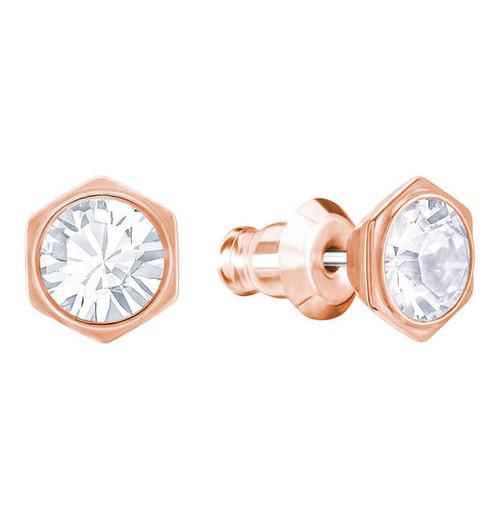 Swarovski Crystal Rose Gold Pierced Stud Earrings 5371199