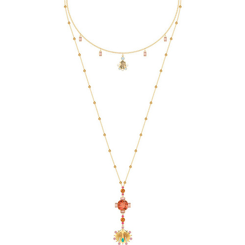 Swarovski Crystal Lucky Goddess Necklace, Multi-colored, Gold Plating 5451303
