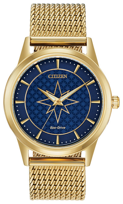 Citizen Eco Drive Captain Marvel Gold-Tone Stainless Steel Watch FE7062-51W Front