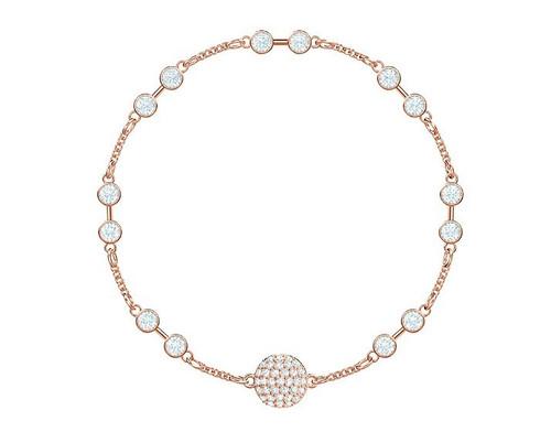 Swarovski Crystal Remix Collection Carrier Bracelet, Rose Gold 5435651 Size M