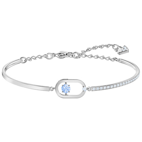 Swarovski Blue Dancing Crystal North Bracelet, Rhodium Plating 5479120