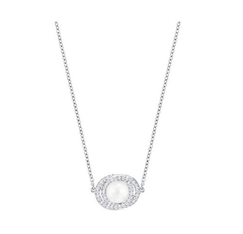 Swarovski Crystal Elaborate Pendant w/ Rhodium Plated Chain, White 5289269