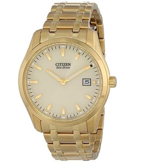 Citizen Eco Drive Bracelet Analog Display Gold Men's Watch AU1042-53P