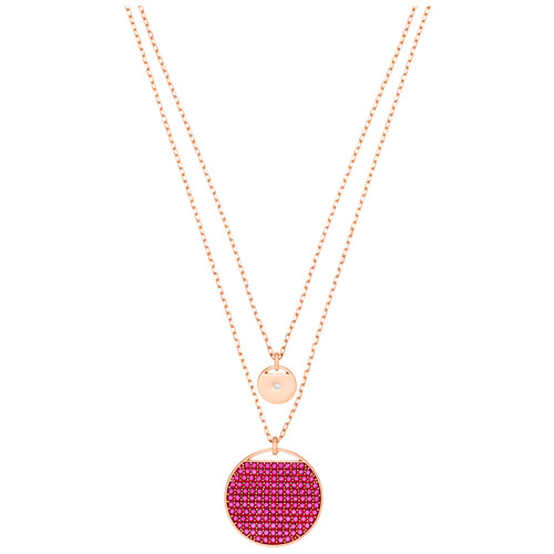 Swarovski Crystal Ginger Pendant, Pink, Rose Gold Tone Plated 5472448