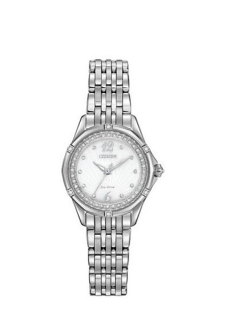 Citizen Eco Drive Signature Women's Versailles Diamond Dial Watch EM0370-51A