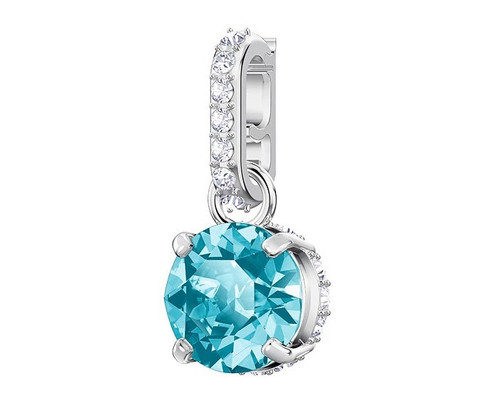 Swarovski Crystal Remix Collection Charm, December, Blue Rhodium Plating 5437316