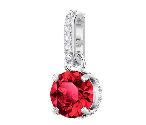 Swarovski Crystal Remix Collection Charm, January, Red, Rhodium Plating 5437315