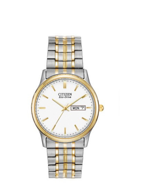 Citizen Eco Drive Men's Corso Two Tone Expansion Bracelet Watch BM8454-93A front
