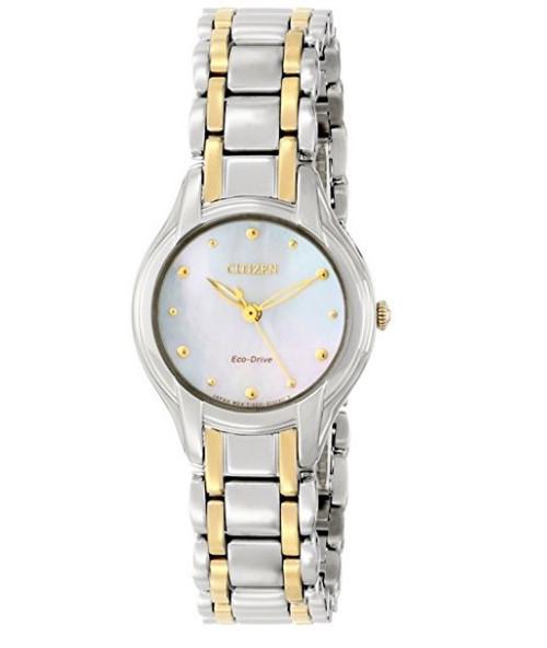 Citizen Eco Drive Women's Silhouette Two Tone Bracelet Watch EM0284-51N