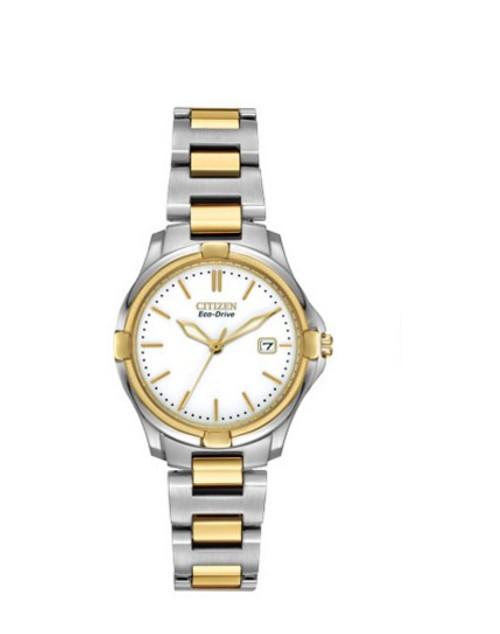 Citizen Eco Drive Women's Two Tone Stainless Steel Bracelet Watch EW1964-58A