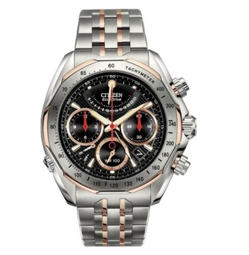 Citizen Eco Drive Signature Men's Chronograph Titanium Watch AV1016-57E