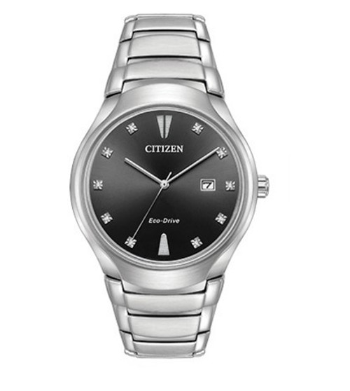 Citizen Eco Drive Men's Paradigm Silver Tone Stainless Steel Watch AW1550-50E